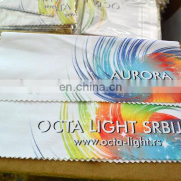 OEM logo printed microfiber cleaning cloth for glasses