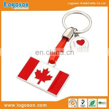 High quality hot sales souvenir gifts Canadian Flag Keychain