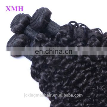 XMH premium quality fast delivery curly hair weave brands best seller grade 8a unprocessed brazilian remy human hair