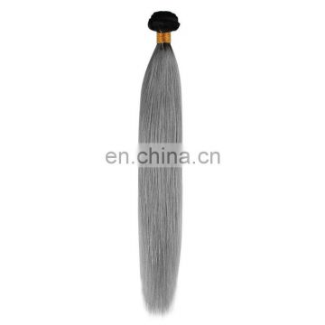 Grey color human hair extensions colored grey indian hair weaving wholesale price 100% real human hair