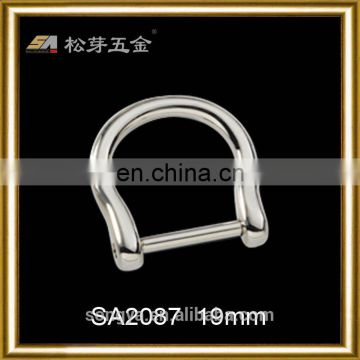 China Dongguan Factory Hot Selling Zinc Alloy D Ring, Best Quality Plated D Ring For Bag Strap