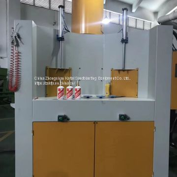 Special automatic sandblasting machine for wine bottle