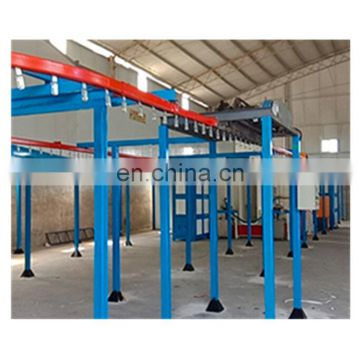 Automatic powder coating booth for aluminium profiles 76