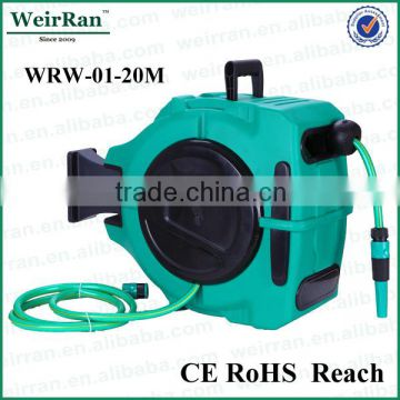 (73628) automatic rewindable hanging garden water hoses reels cart