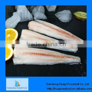 Frozen high quality pacific cod fillets