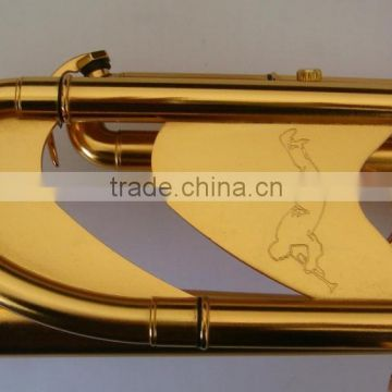 high grade trumpet brush gold surface import brass bell professional musical instruments