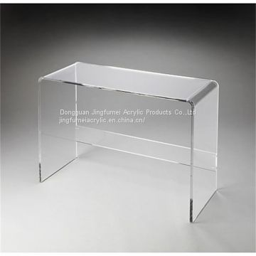 Modern Office Desk Clear Acrylic Working Table Computer