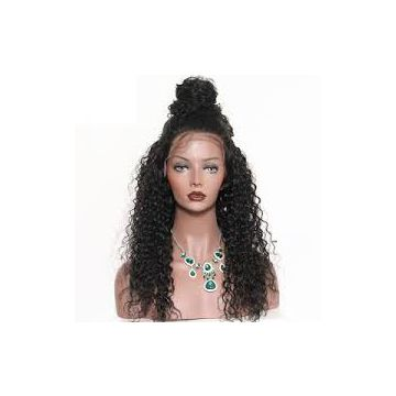 Cuticle Aligned High Quality Cambodian 16 18 20 Inch Curly Human Hair Wigs Unprocessed