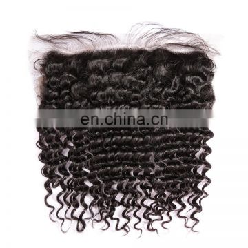 High Quality Deep Wave Virgin Remy Lace Front Closure Piece With Baby Hair