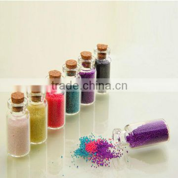 Colourful Nail Art Decoration accessory.Size: 0.6-0.8mm. glass ball caviar beads wholesale