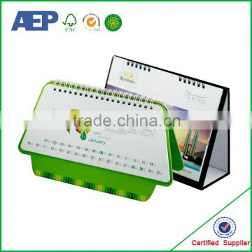 Free sample printed new design table desk high quality magnetic calendar for fridge made in China