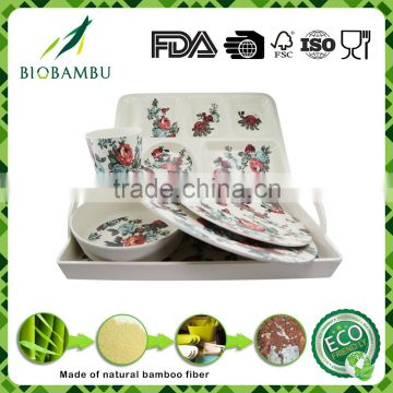Biodegradable Ecological Wholesale Bamboo Fiber Dinnerware Sets