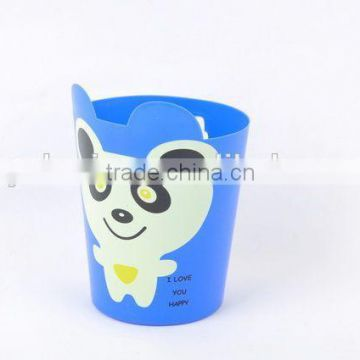 Printed Plastic Trash Can/Rubbish Bin Household Garbage Can With Cartoon Pattern/Desktop bin
