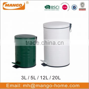 Colorful Powder Coating Metal Pedal Dust Bin