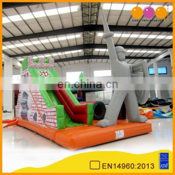 AOQI products hot sale obstacle course inflatable/inflatable obstacle bouncer slide AQ1437-2