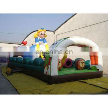 inflatable princess bouncer game with obstacles