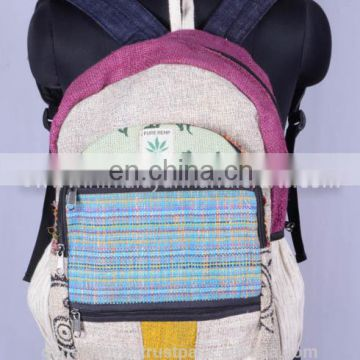 Latest Fashionable Canvas Hemp Backpack HBB 0038
