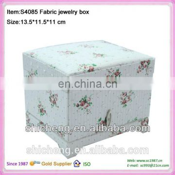 Bulk buy from China cosmetics flower magnetic fabric jewelry box