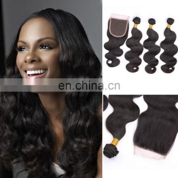 Virgin Peruvian hair silk base frontal closure with bundles accept Paypal