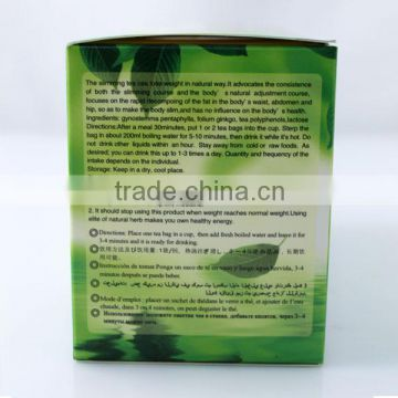 Natural detox and cleansing tea slim fit green tea slimming tea for weight loss