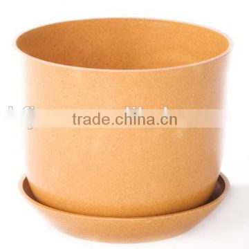 Pretty design OEM available Portable bamboo fiber flower pot