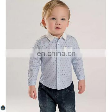 T-BSS003 Chinese Clothing Manufacturers New Style Fashion Boys Printed Shirt