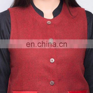 Wool Tweed Solid Trim Jacket for women