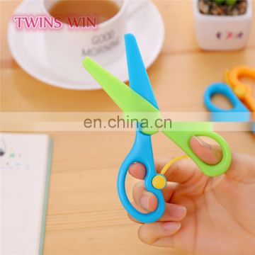 Factory cheap price Creative Innovative Designed office stationery types of eco-friendly colored plastic scissors
