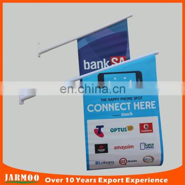 customized shape shop promotion wall flags with plastic sticks