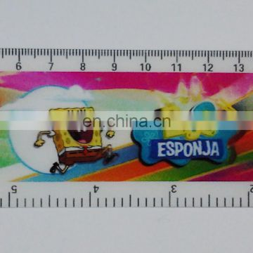 high quality lenticular effect UV printed l type ruler