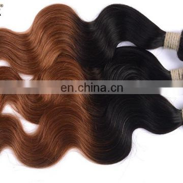 cheap ombre hair extension indian remy hair ombre color 1b/30 hair extension