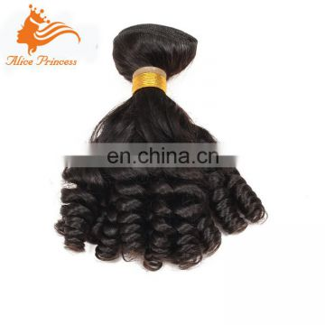100% Remy Human Hair Latch Hook Hair Weave Natural Black Virgin Mongolian Hair Expression Weave In Nigeria