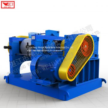 Natural rubber lump pressing creping machine