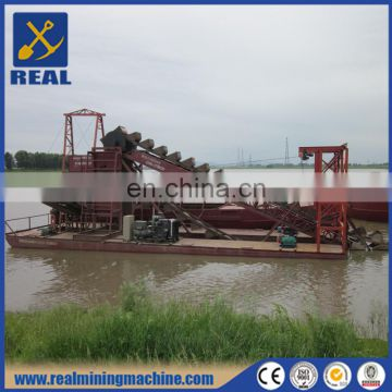 Gold dredger/gold mining machine/bucket chain gold dredge for sale