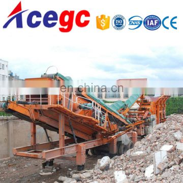 Bridge,building,road construction use sand,gravel material making plant movable crushing station equipment