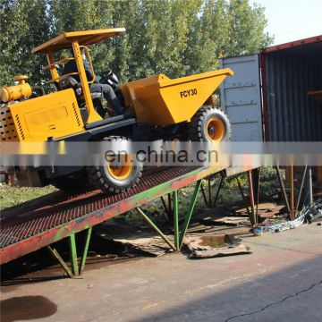 China 3ton Hydraulic Site Dumper With Bucket