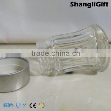 20ml Round Glass Jars Spice Bottle With Silver Plastic Cap