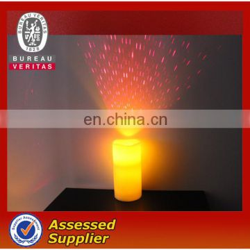 Battery Operated Wax LED Candle with Projection function