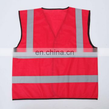 CNSS Red 100% high visibility reflective safety vest