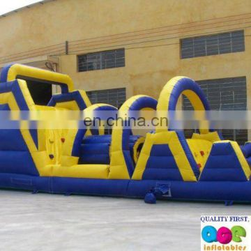 hot amusement park, inflatable obstacle course