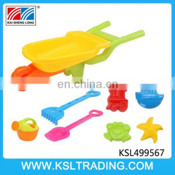 High quality plastic kids beach toy trolley set for good sale