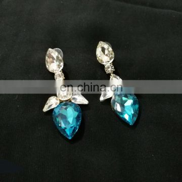 Tiny Droplet Gold Plated Party Wear Earrings Set In Turquoise Color