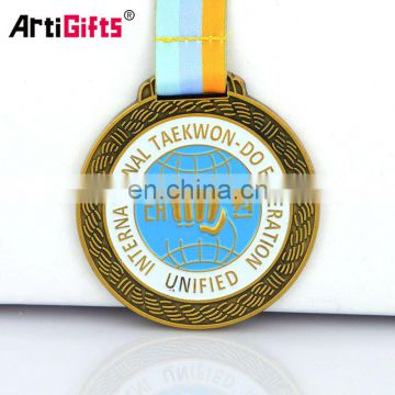 Medal Factory Custom Bulk Blank Hard Enamel Metal Dental Medal Hanger