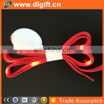 Wholesale glow shoe lace flashing Light up led shoelaces with battery for party