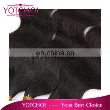 Double weft cheaper price 16inch body wave darling hair weaving