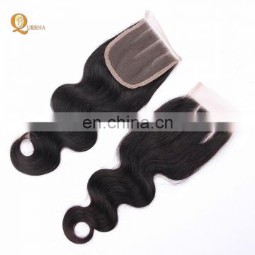 100% Human Hair Raw Virgin Unprocessed 3 Way Part Brazilian Hair Lace Closure