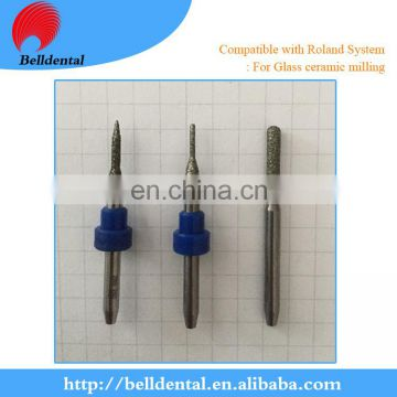 Dental Diamond coating glass ceramic milling bur for Amann Girrbach system