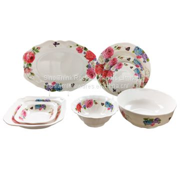 Unbreakable melamine dinner set with color box