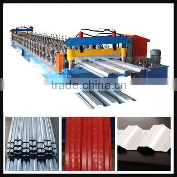 Double layer corrugated trapezoidal roof tile wall panel machine glazed tile forming machine floor decking forming machine