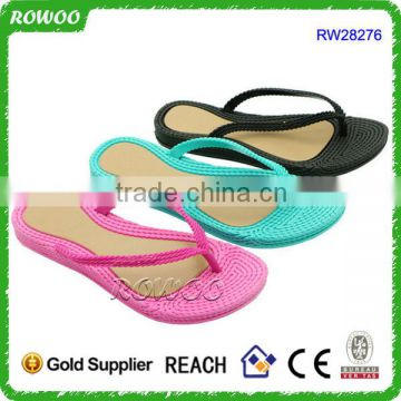 Cheap Comfortable PVC Slipper Summer Flat Beach Shoe Ladies PVC Flip Flops